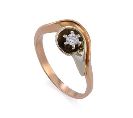 Фото«GZ-1119» Кольцо с бриллиантом