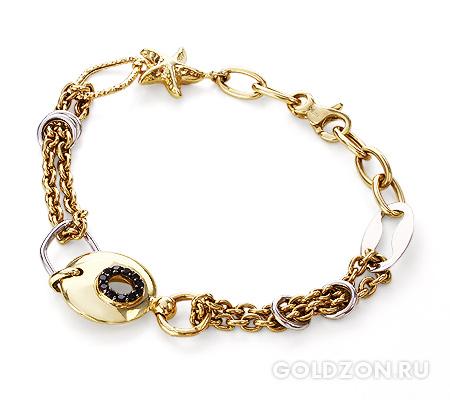 Фото«GZ-2033600»Красивый браслет золото камни фианиты женский
