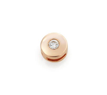 Фото«UV-KZ-072P»Кулон с бриллиантом круглый из красного золота