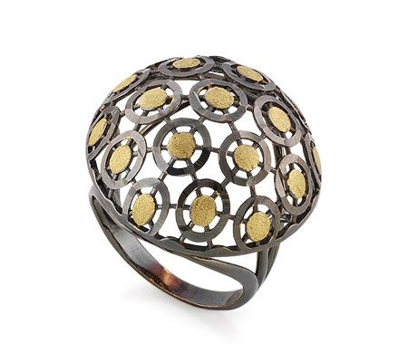 Фото«VG-0909260»Кольцо из черного золота без камней