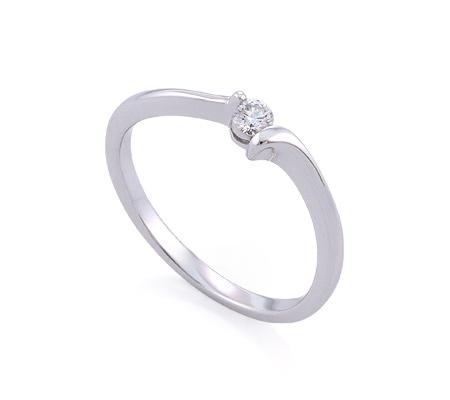 Фото«GZ-113525» Кольцо с бриллиантом