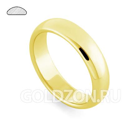Фото«RG-W335Y»Обручальное кольцо из желтого золота классическое