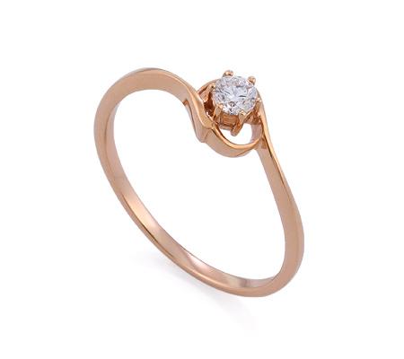 Фото«GZ-314837» Кольцо с бриллиантом