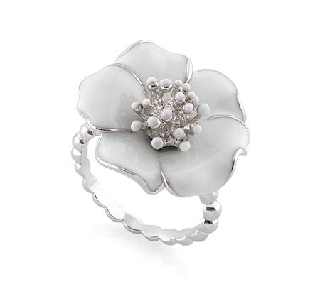 Фото«AS-3546» Серебряное кольцо с эмалью