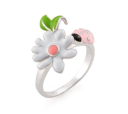 Фото«AS-3563» Серебряное кольцо с эмалью