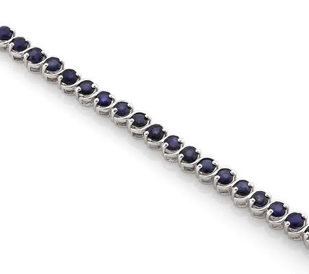Фото«AS-4308» Серебряный браслет с сапфирами