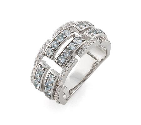 Фото«AS-4332» Кольцо с топазом серебряное
