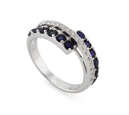 Фото«AS-4576» Кольцо из серебра с сапфиром