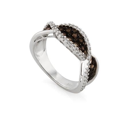 Фото«AS-4588» Кольцо с топазом серебряное