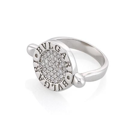 Фото«AS-6376»Серебряное кольцо с цирконом Булгари Bvlgari копия