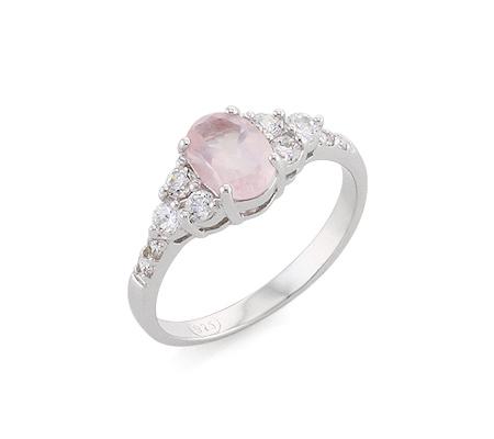 Фото«AS-6428» Серебряное кольцо с розовым кварцем