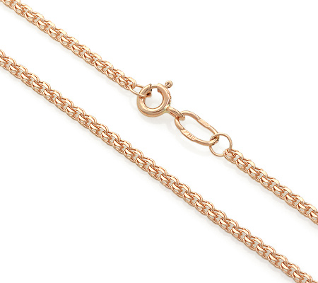 Фото«BGRP235C2-A51»Цепочный браслет из золота плетение «Бисмарк»