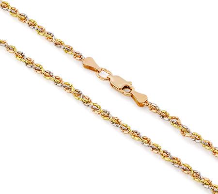 Фото«VGF-5661»Женская золотая цепочка плетение «Перлина Тройная»