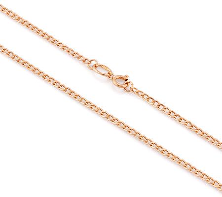 Фото«VGL-0200»Золотая цепочка  пустотелая «Панцирное» плетение