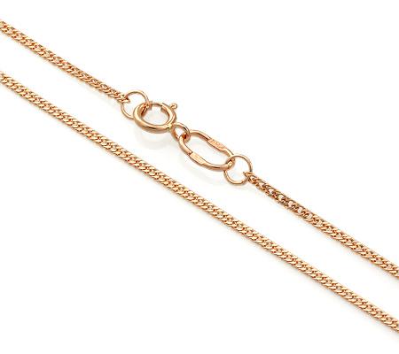Фото«ADF-22551175»Цепочка плетение «Панцирное» из красного золота