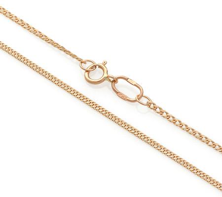 Фото«ADF-22551154»Тонкая цепочка плетение «Ромб» из красного золота