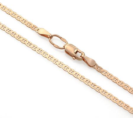 Фото«ADF-15051371»Плоская золотая цепь плетение «Морская цепь Картье»