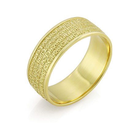 Фото«RG-3175»Золотое православное венчальное кольцо с молитвой