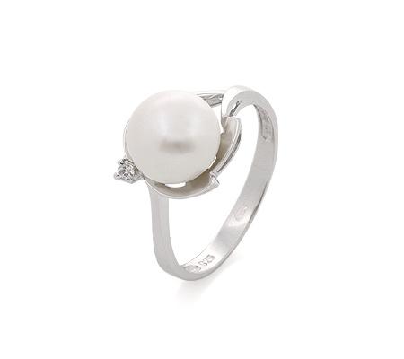 Фото«GZ-490175» Кольцо с жемчугом из серебра