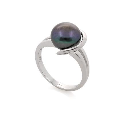 Фото«GZ-530160» Кольцо с жемчугом из серебра