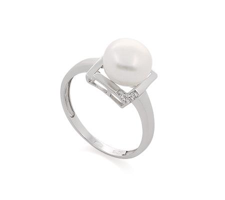 Фото«GZ-320165» Кольцо с жемчугом из серебра