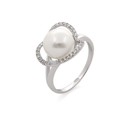 Фото«GZ-520170» Кольцо с жемчугом из серебра