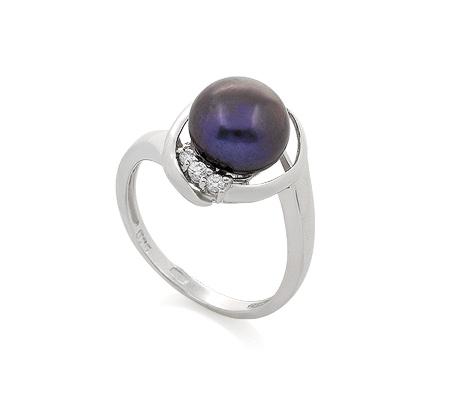 Фото«GZ-861753» Кольцо с жемчугом из серебра