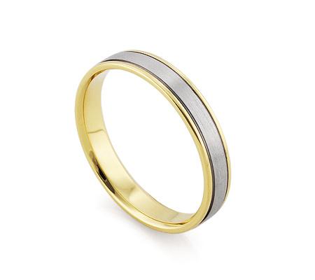 Фото«RG-F1068M»Золотое мужское обручальное кольцо матовое парное