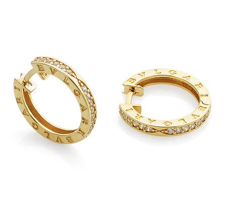 Фото«GZ-1749»Золотые серьги в стиле Булгари с камнями