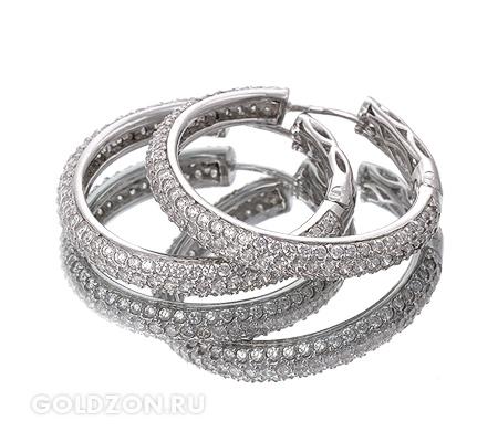 Фото«GZ-1961» Серебряные серьги с цирконом