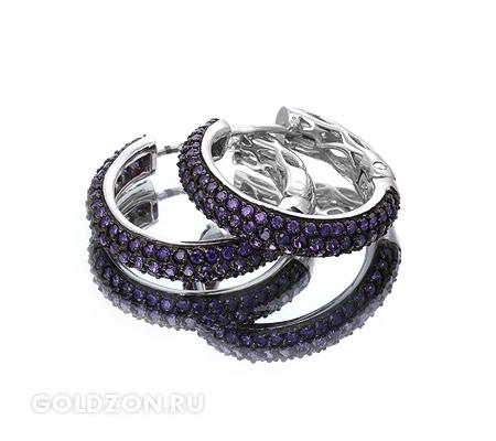 Фото«GZ-1962» Серебряные серьги с цирконом