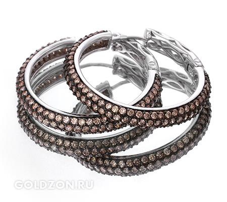 Фото«GZ-1963» Серебряные серьги с цирконом