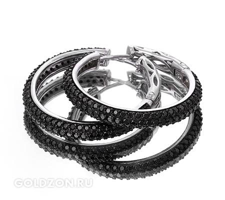 Фото«GZ-1964» Серебряные серьги с цирконом
