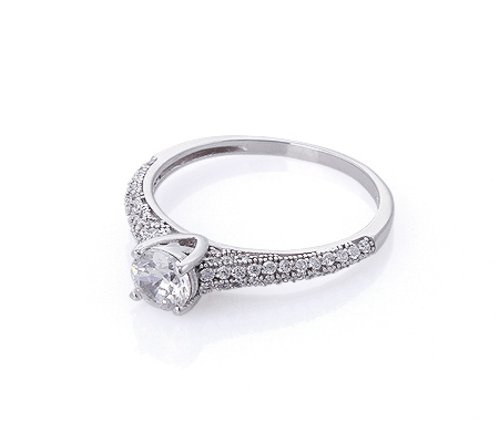 Фото«GZ-1995» Кольцо с цирконом серебро