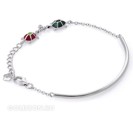 Фото«GZ-2061» Браслет с эмалью серебро