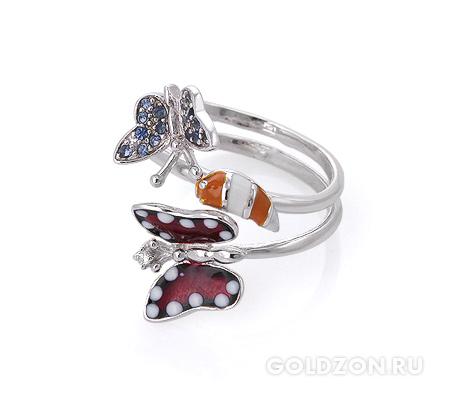 Фото«AS-2079» Серебряное кольцо с эмалью