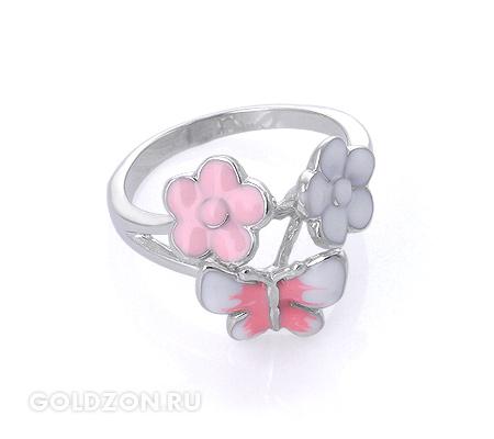 Фото«GZ-2080» Серебряное кольцо с эмалью