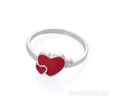 Фото«AS-2084» Серебряное кольцо с эмалью