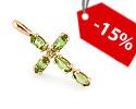 Кресты и крестики ручной работы, с камнями, c эмалью; Код: GZ-2446; Вес: 1.72г; 3950р.