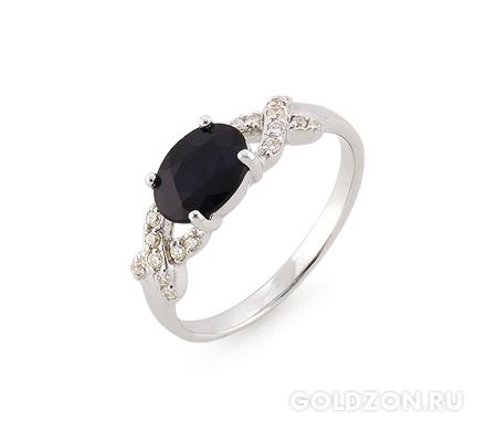 Фото«AS-2477» Кольцо из серебра с сапфиром
