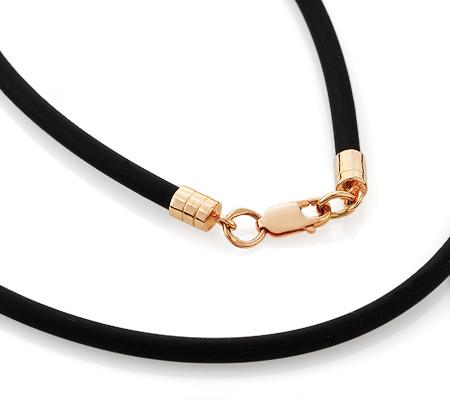 Фото«GZ-2868»Каучуковый шнурок с золотом