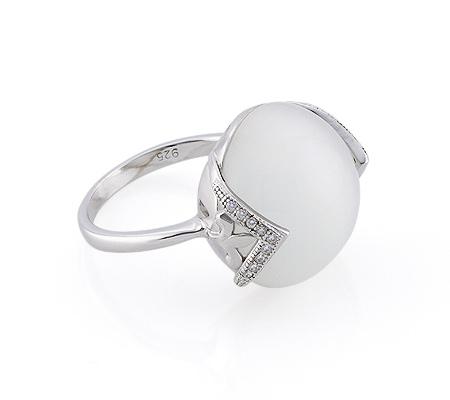 Фото«GZ-2874» Серебряное кольцо с кошачьим глазом