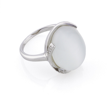 Фото«GZ-2894» Серебряное кольцо с кошачьим глазом
