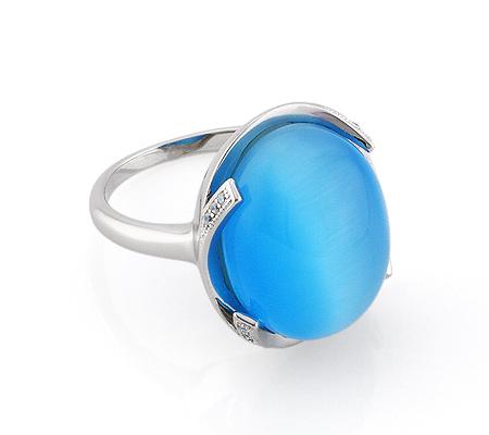 Фото«GZ-2899» Серебряное кольцо с кошачьим глазом