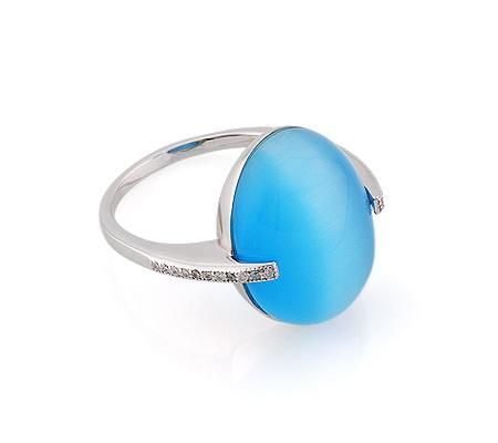 Фото«GZ-2902» Серебряное кольцо с кошачьим глазом