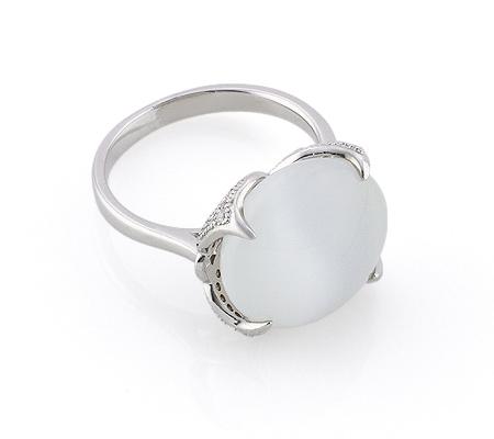 Фото«GZ-2910» Серебряное кольцо с кошачьим глазом