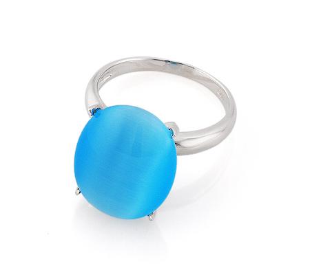 Фото«GZ-2927» Серебряное кольцо с кошачьим глазом