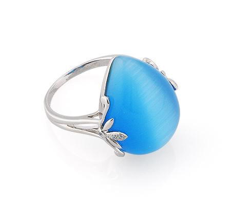 Фото«GZ-2940» Серебряное кольцо с кошачьим глазом