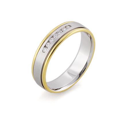 Фото«RG-F1069-TS»Обручальное кольцо дорожка с 7 бриллиантами золото