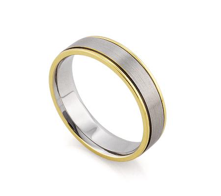 Фото«RG-F1069-TS-BK»Мужское обручальное кольцо из белого золота матовое
